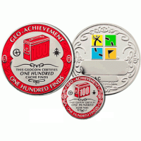 100 Finds Geo-Achievement set Geocoin