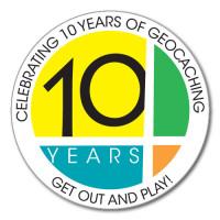 10 Years! of Geocaching Sticker