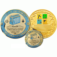 2000 Finds Geo-Achievement set Geocoin