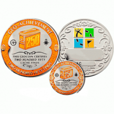 250 Finds Geo-Achievement set Geocoin