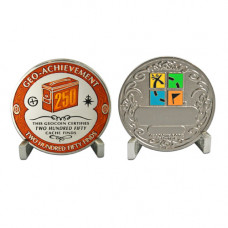 250 Finds - Geo- Achievement Award Geocoin