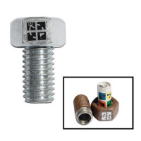 Silver Magnetic Bolt Geocache Container