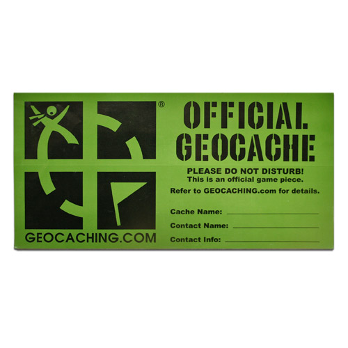 picture about Official Geocache Printable titled High geocache label