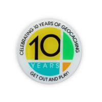 10 Years of Geocaching Lapel Pin