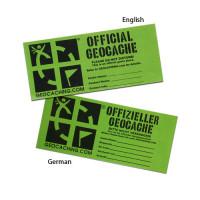 Medium geocache label