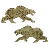Steampunk Polar Bear Geocoin Trackable