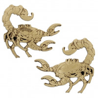 Steampunk Scorpion Geocoin Trackable