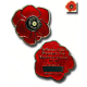 Red Remembrance Poppy Trackable