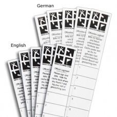 Micro Log Strips - Set of 5 English